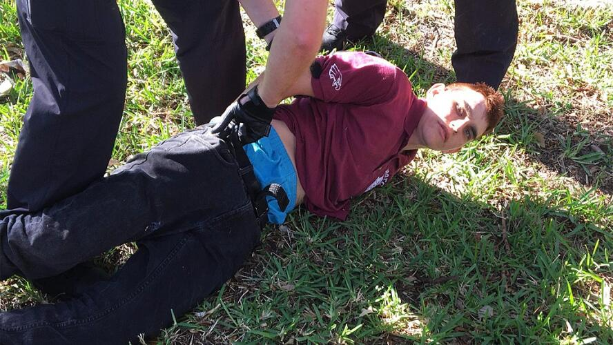 Cruz during his arrest in Coral Springs