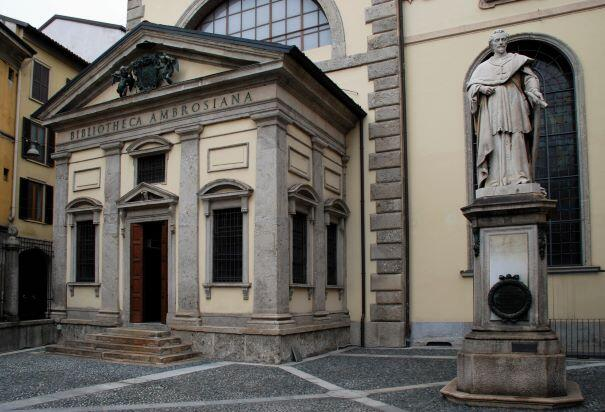 Entrance to the Ambrosian Library