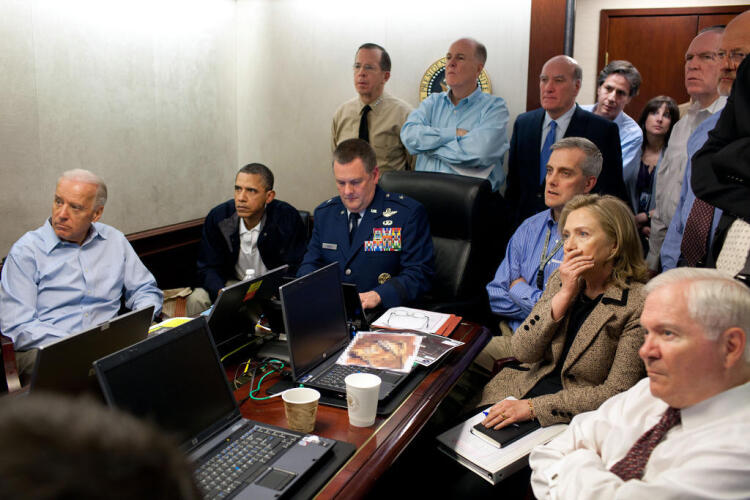 Obama await updates on bin Laden Image