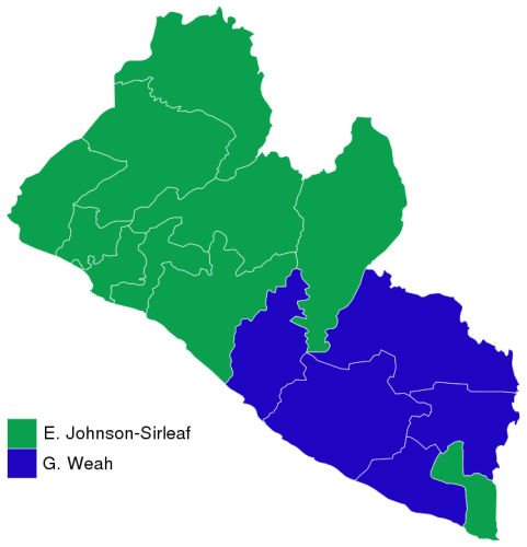Results of the second round of the 2005 Liberian presidential election - image