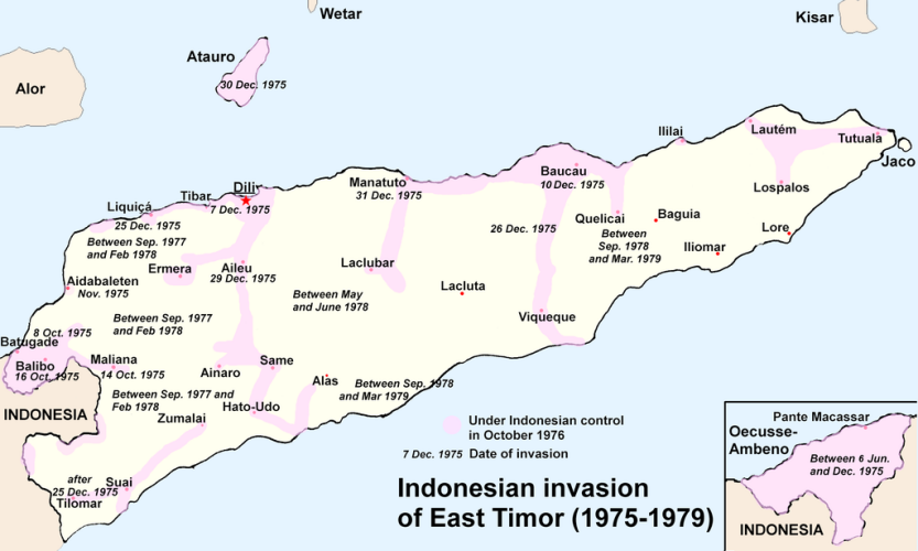 the map of Indonesian Invasion of East Timor (1975-1979) - image